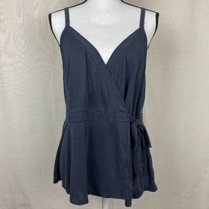 New American Eagle Sueded Wrap Sueded Tank Top